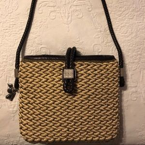 Vintage Brighton Woven Purse With Leather Strap!